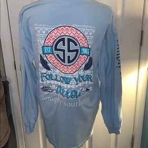 Simply Southern shirt (L)